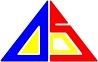 総合情報通信技術研究機関 ADS シンボル(ロゴ・マーク) トライベスト With Perl(GIF)