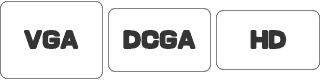 アスペクト比 VGA, DCGA, HD 640x480, 640, 400, 1920x1080