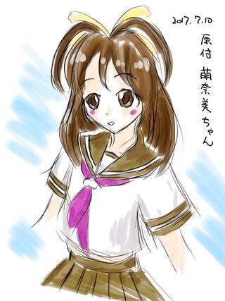 原付萌奈美 by きゅう(Public Domain CC BY-SA 2.0)